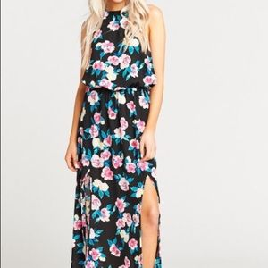 SMYZm monet flowers maxi dress